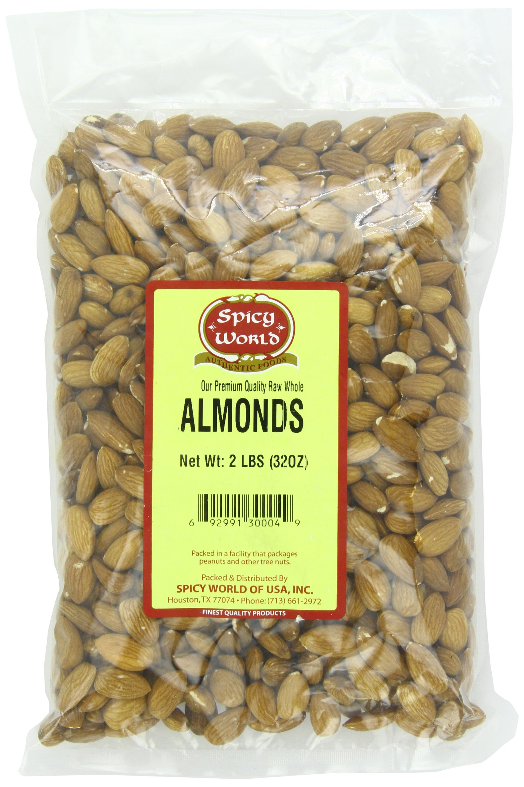 Spicy World Almonds Whole, 2 Pound Pouch