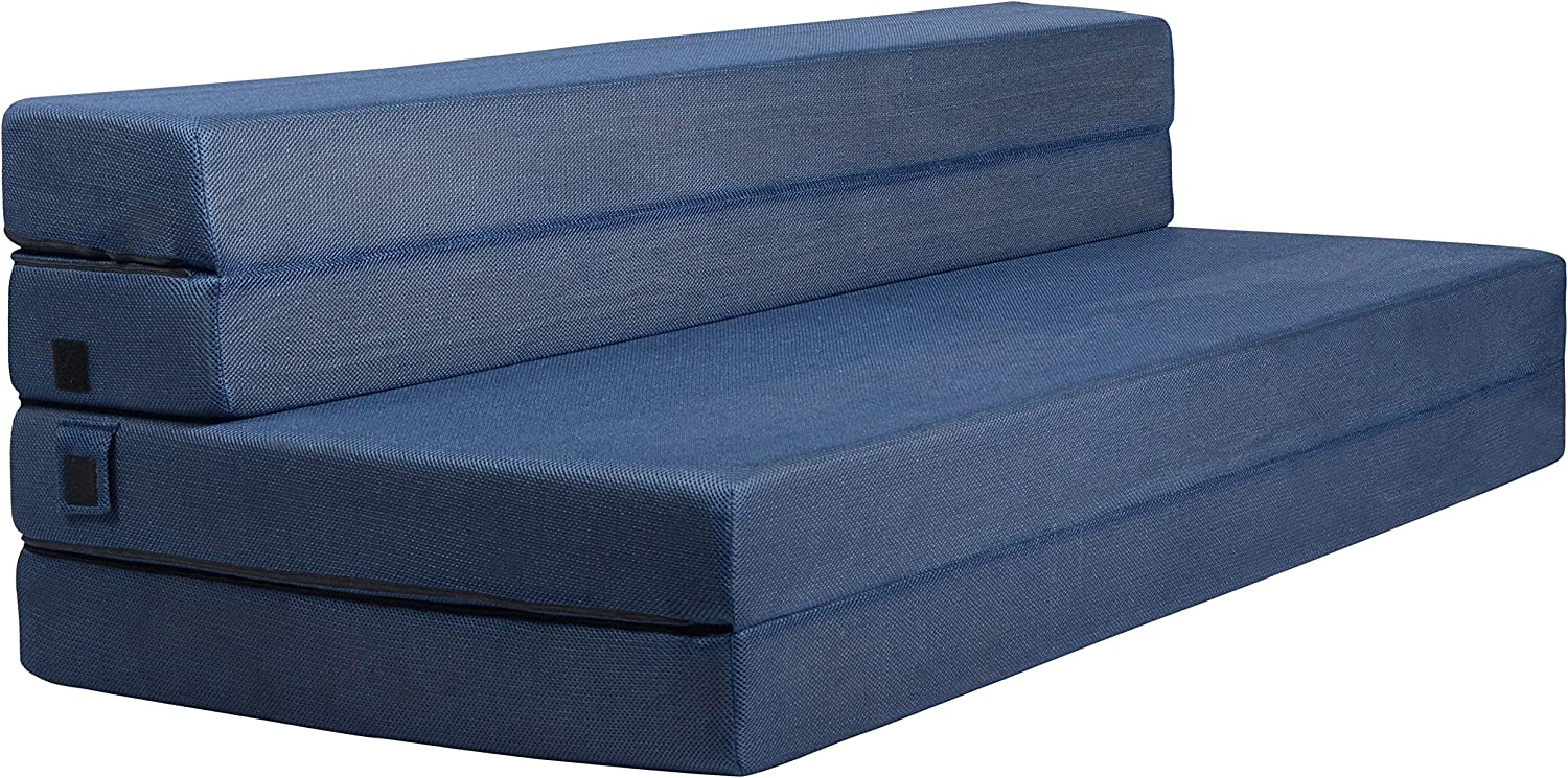 Milliard Tri-Fold Foam Folding Mattress and Sofa Bed for Guests - Queen 78x58x4.5 Inch