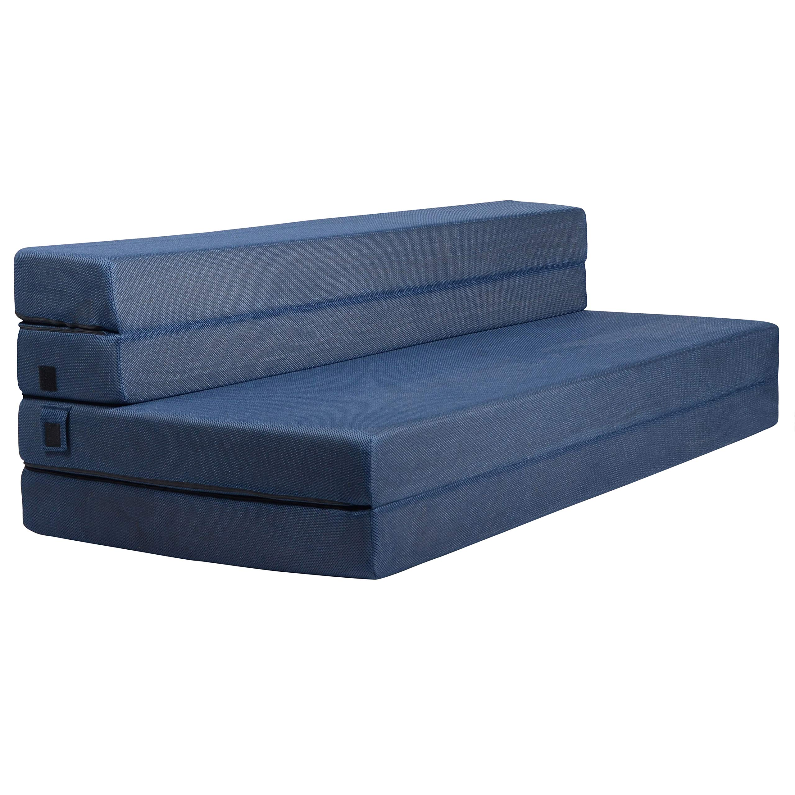 Milliard Tri-Fold Foam Folding Mattress and Sofa Bed for Guests - Queen 78x58x4.5 Inch by Milliard
