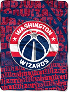 """Officially Licensed NBA """"Redux"""" Micro Raschel Throw Blanket, Multi Color, 46"""" x 60"""""""