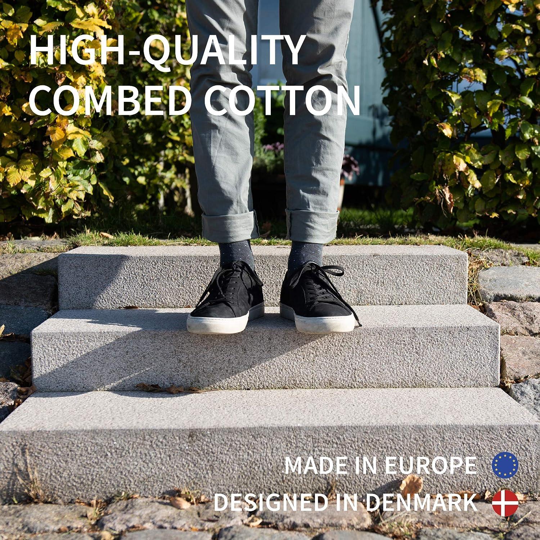 Morbidi Resistenti e Colorati Prodotti in Europa DANISH ENDURANCE Calzini di Cotone per Uomo e Donna Grigio Nero Pacco da 6 Traspiranti Certificati OEKO-TEX