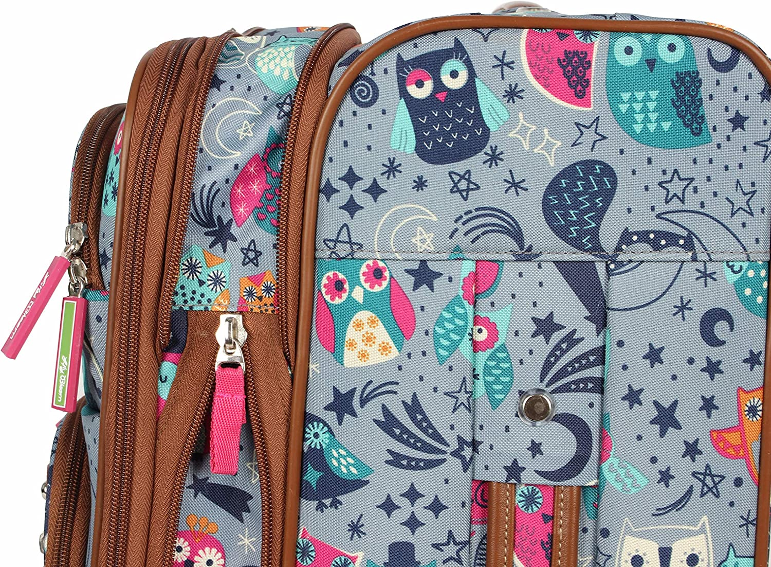 Lily Bloom Luggage Carry On Expandable Design Pattern Suitcase For Woman With Spinner Wheels Aquarium Life, 20in
