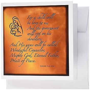 3drose Jesaja 9 7 Bibel Vers Vorhersage von Jesus Geburt für ...