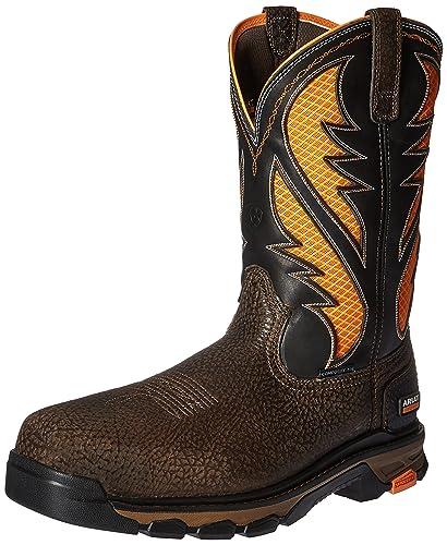 Ariat Work Men's Intrepid Venttek Composite Toe Work Boot, Cocoa Brown/Work  Orange,