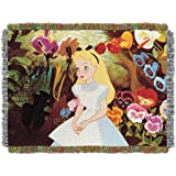 Disney Alice in Wonderland Alice in The Garden Tapestry Throw, 46 by 60""