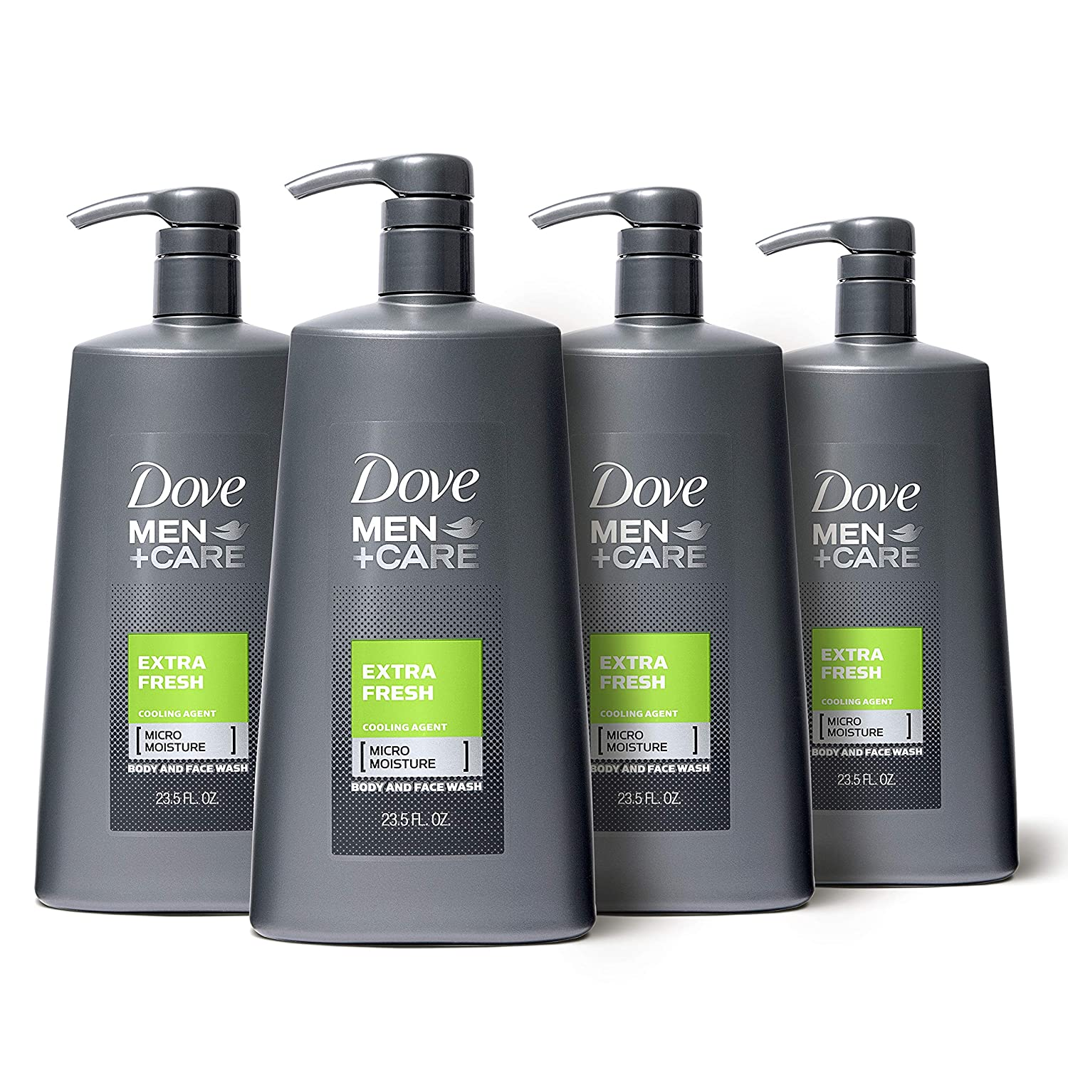 Amazon Com Dove Men Care Body And Face Wash Pump Extra Fresh 23 5 Oz For Dry Skin Effectively Washes Away Bacteria While Nourishing Your Skin Pack Of 4 Beauty