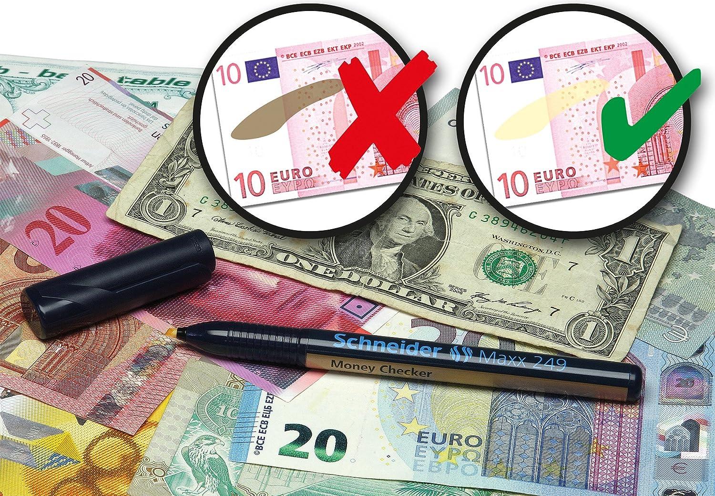 Schneider Money Checker - Bolígrafo detector de billetes falsos: Amazon.es: Oficina y papelería
