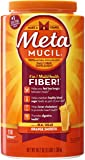 Metamucil Daily Fiber Supplement, Orange Smooth Sugar Psyllium Husk Fiber Powder, 114 Doses