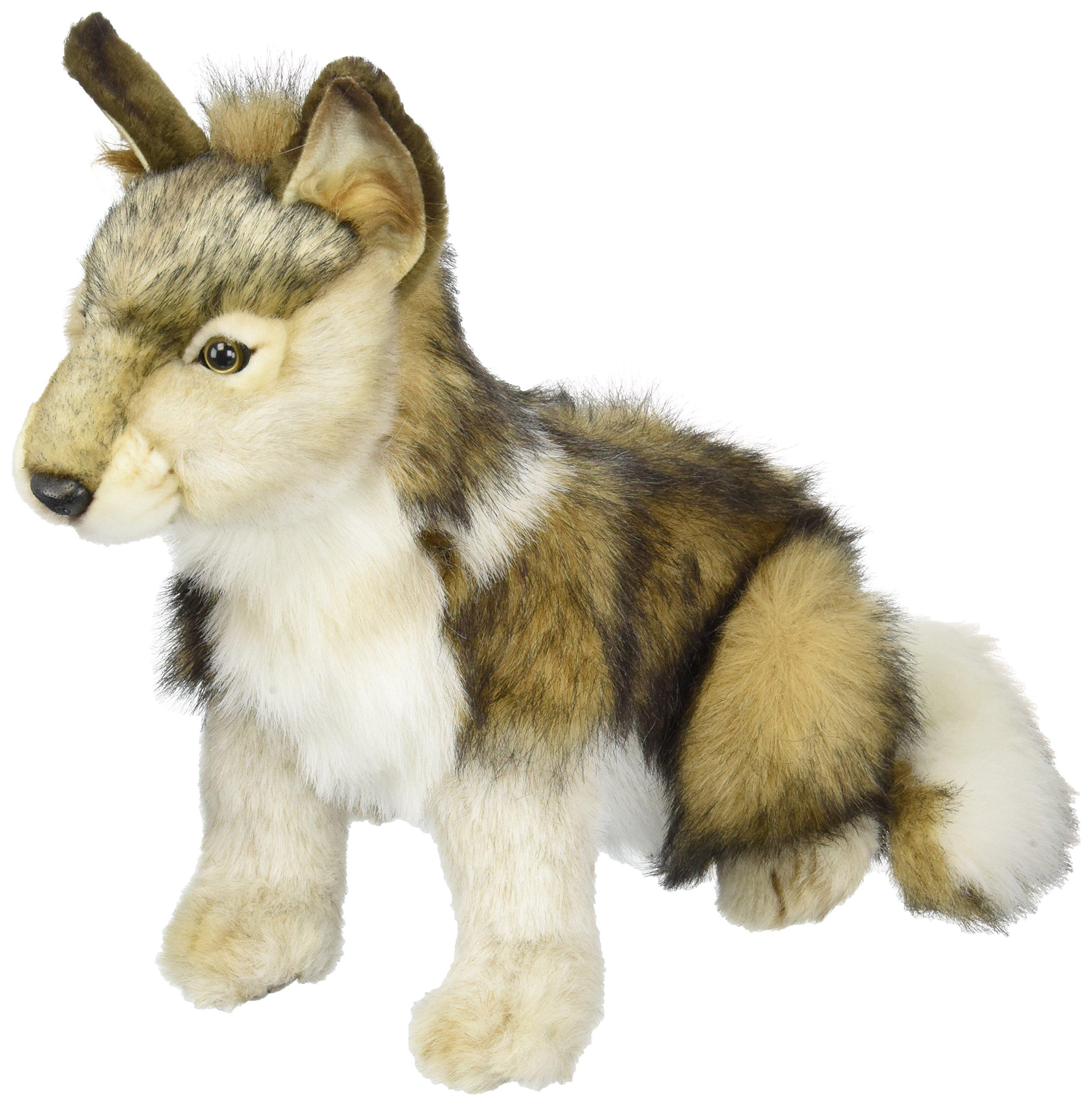 Hansa Seated Wolf Cub Plush by Hansa