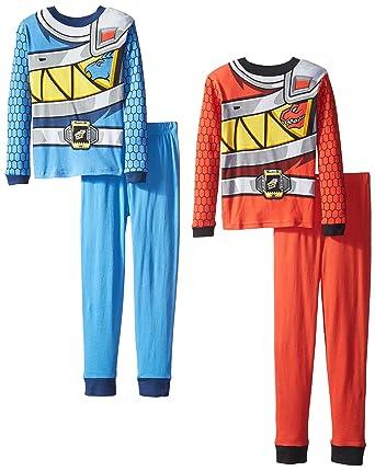Amazon.com  Power Rangers Big Boys  Duo Charge 4-Piece Pajama Set ... 14b64384e