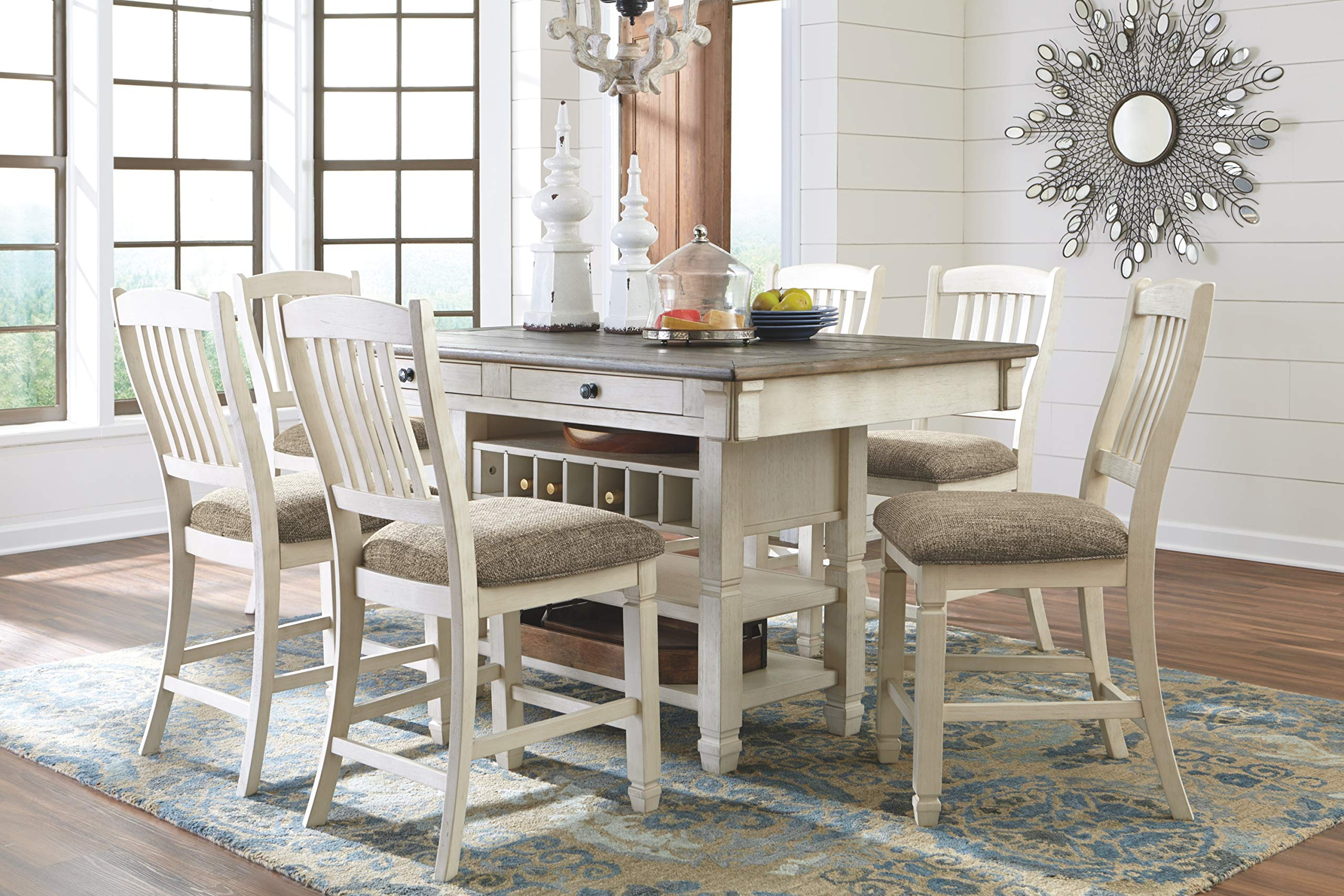 Ashley Furniture Signature Design - Bolanburg Counter Height Dining Room Table - Antique White by Signature Design by Ashley (Image #10)