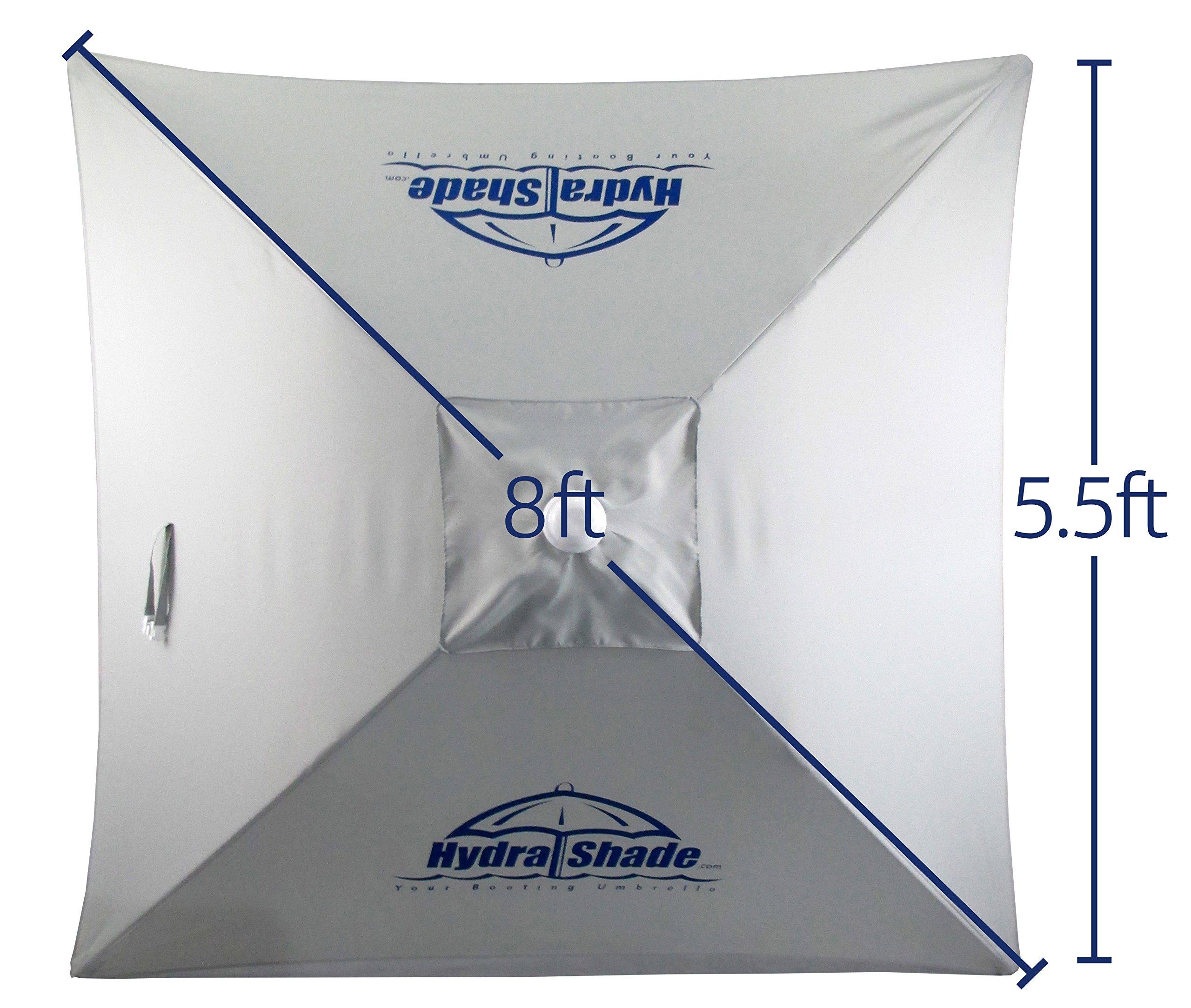 Hospitality Rattan XL-150 Hydra Shade 8' Square Boating & Beach Umbrella Kit, White by Hospitality Rattan (Image #10)