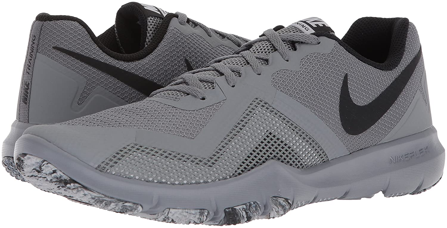 official photos bc62f 2e362 Nike Mens Flex Control II Cross Trainer, Cool GreyBlack-Speed Red-White,  7.0 Regular US Amazon.com.au Fashion