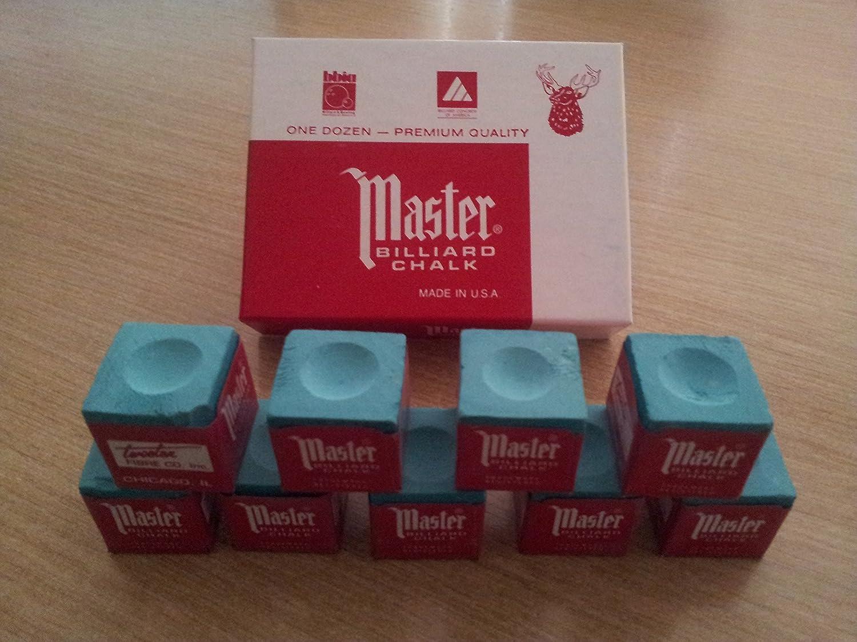 Maestro tiza para taco de billar - - Verde elegir 1 - 12 piezas ...