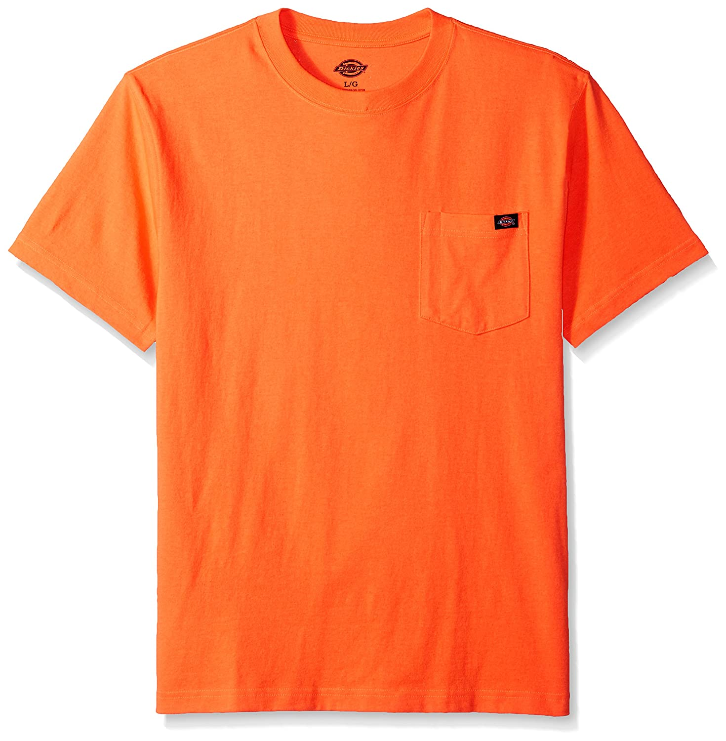 Dickies Men's Short Sleeve Heavyweight Neon Crew Neck