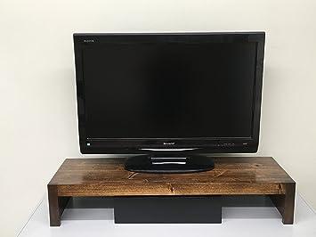 Soporte Elevador para televisor y Monitor de Estilo rústico ...