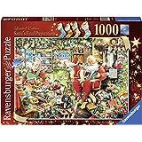 Ravensburger - Puzzle, ed. limitata 2015, motivo: Ultimi preparativi di Babbo Natale, 1000 pz.