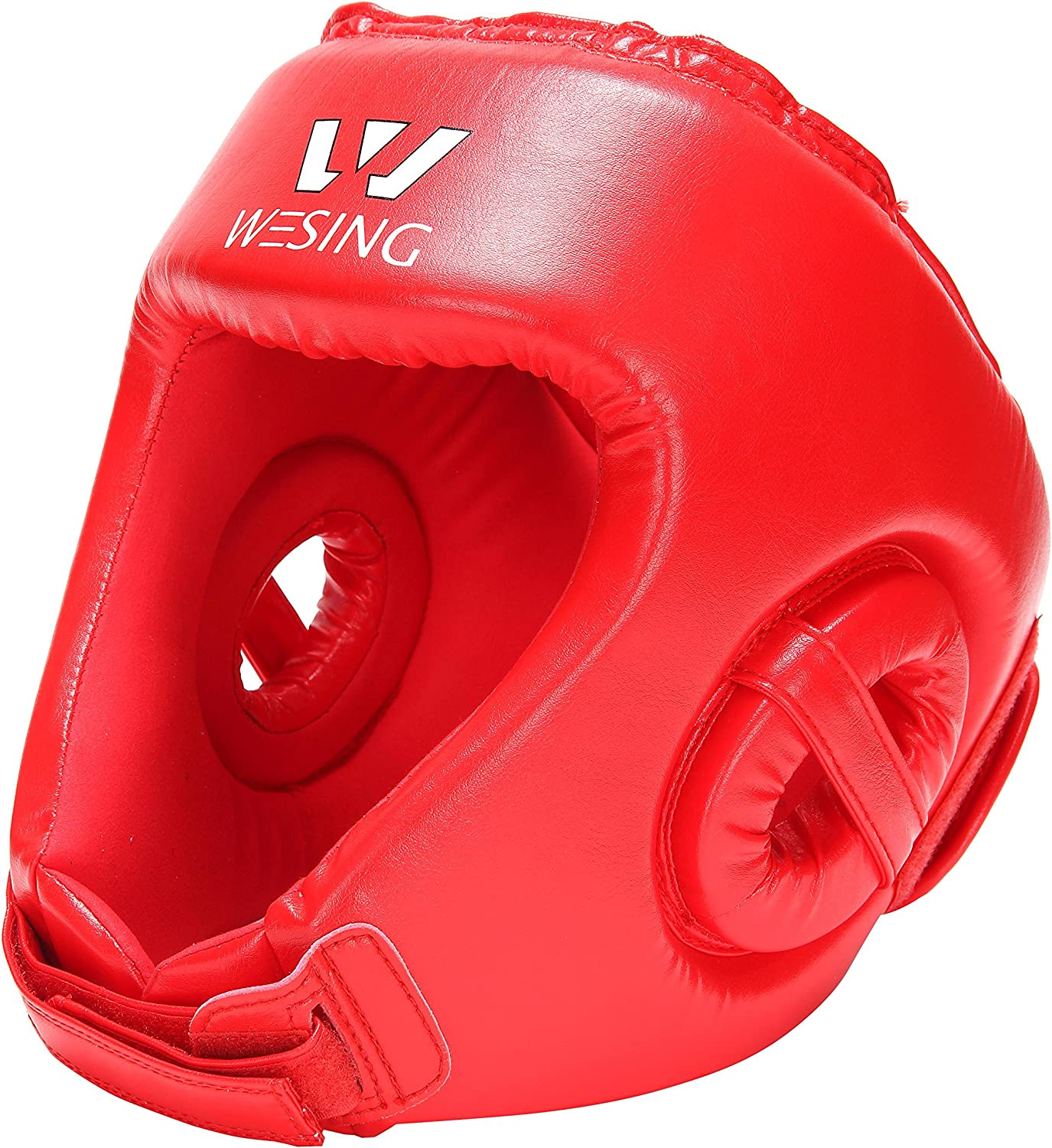 wesing Professional Boxing Muay Thai Martial Arts Training Sparing Headgear Without Cheeks by