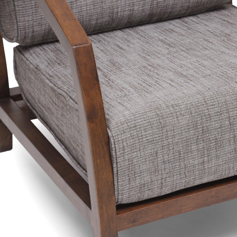 Amazon Baxton Studio Velda Modern Accent Chair Brown