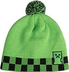 d3725f09453 JINX Minecraft Creeper Sprite Pom Beanie (Green Black