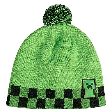 Amazon.com  JINX Minecraft Creeper Sprite Pom Beanie (Green Black ... f8c92051713
