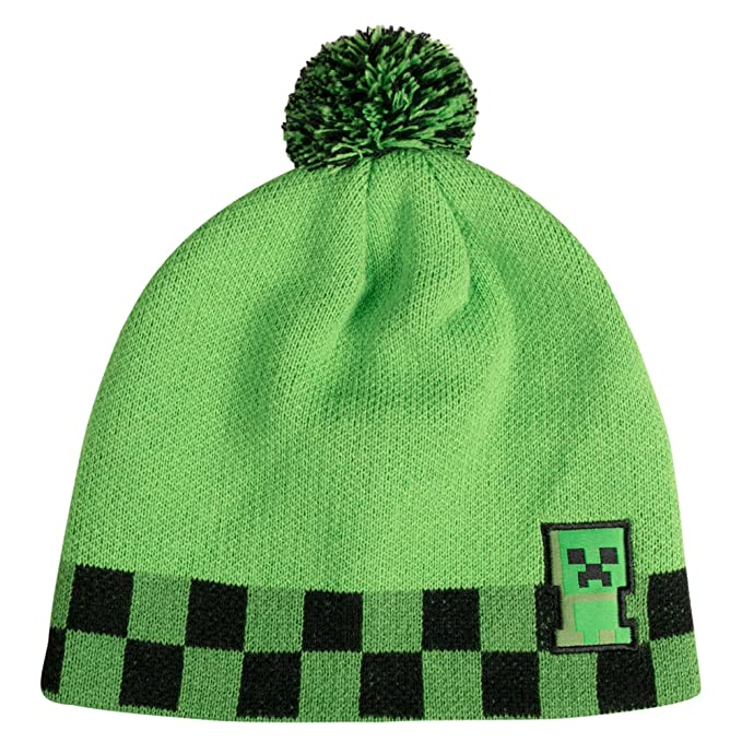 9d79d62a0bd Image Unavailable. Image not available for. Color  JINX Minecraft Creeper  Sprite Pom Beanie ...