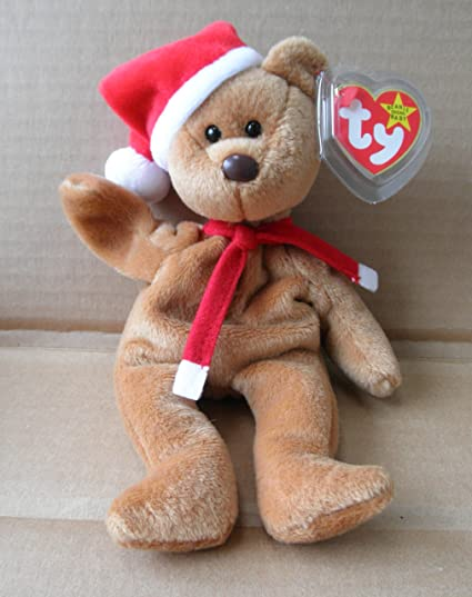 Amazon.com  TY Beanie Babies 1997 Teddy Christmas Stuffed Animal ... 4bfda7d68ce