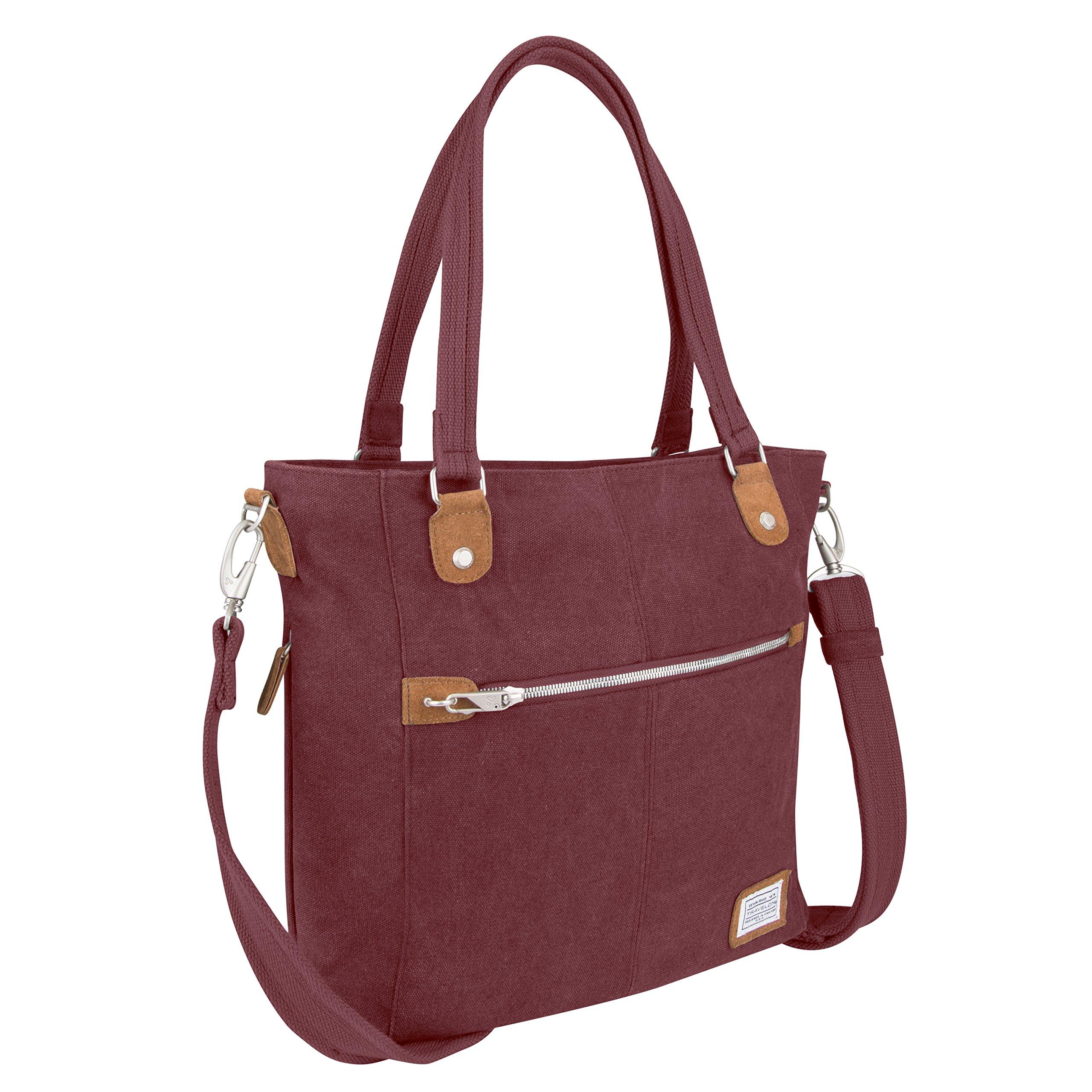 Travelon Anti-Theft Heritage Tote Bag, Wine
