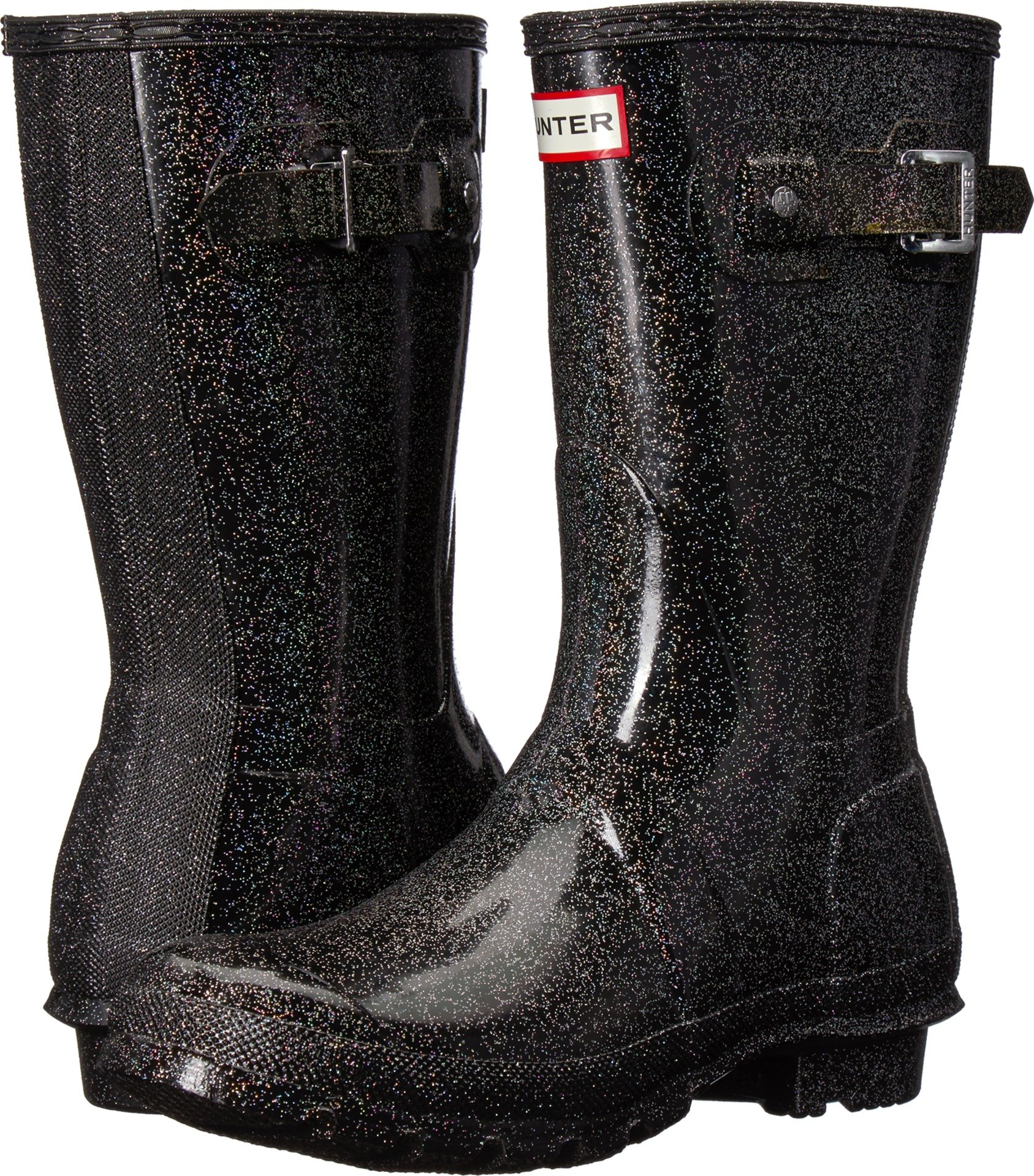 Hunter Women's Original Starcloud Short Rain Boots Black Multi 9 M US