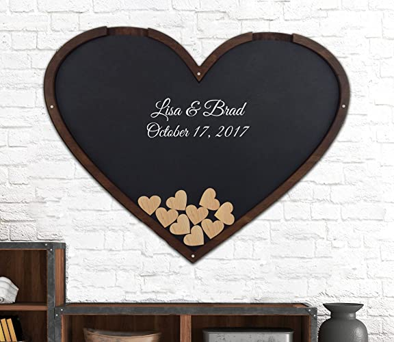 Heart Shape Wedding Guest Book Alternative - Drop Box