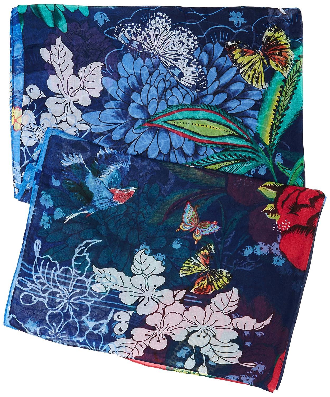 Desigual Foulard Rectangle Boho Mix, Echarpe Femme, Bleu (Estate Blue  5016), Unique (Taille Fabricant  One Size)  Amazon.fr  Vêtements et  accessoires 13398eddc7b