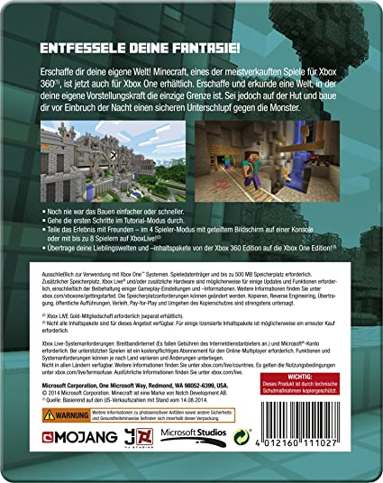 Minecraft SteelbookEdition German Version Amazoncouk PC - Minecraft jetzt spielen de