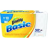 """Bounty 92979 Basic Select-A-Size Paper Towels, 5 9/10"""" x 11"""", 1-Ply, White (Pack of 8)"""