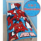 "Character World Single ""Disney Spiderman Ultimate Parker"" Panel Duvet Set, Multi-Colour"