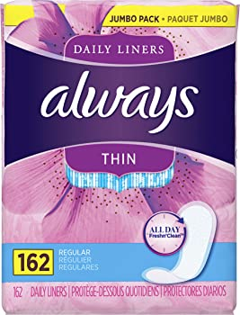 162-Count Always Unscented Thin Daily Wrapped Liners