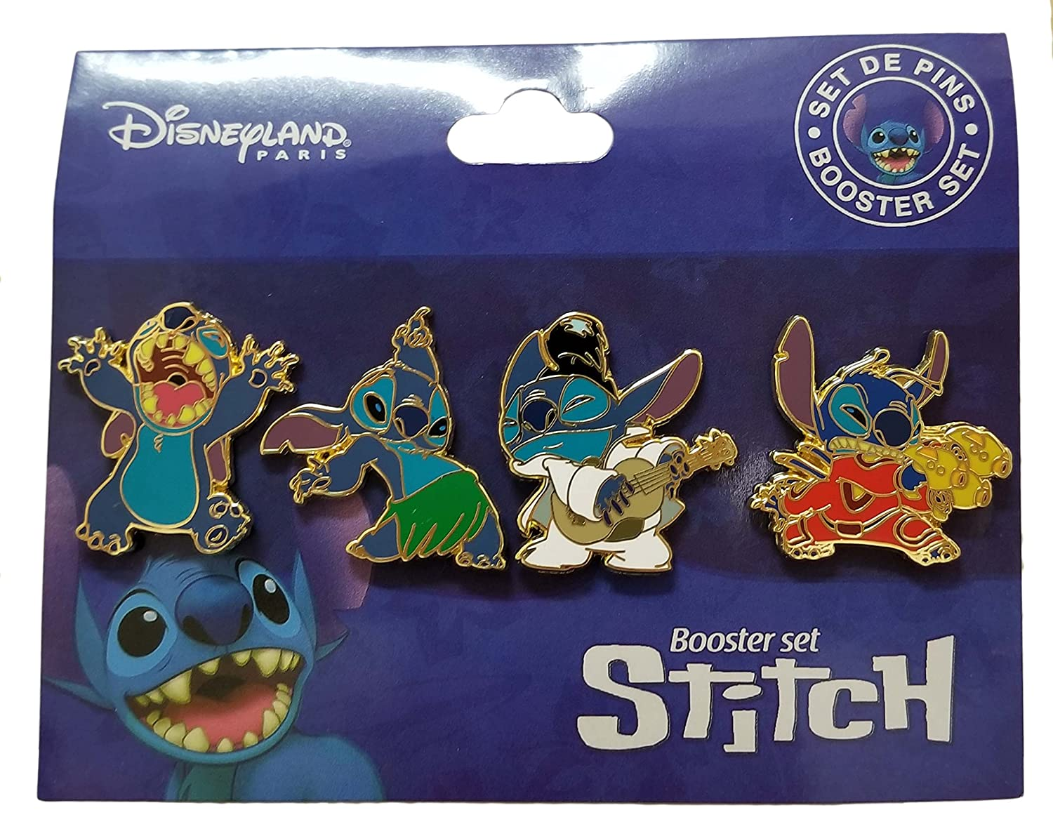 Disneyland Paris Pin - DLRP - Stitch Booster Set