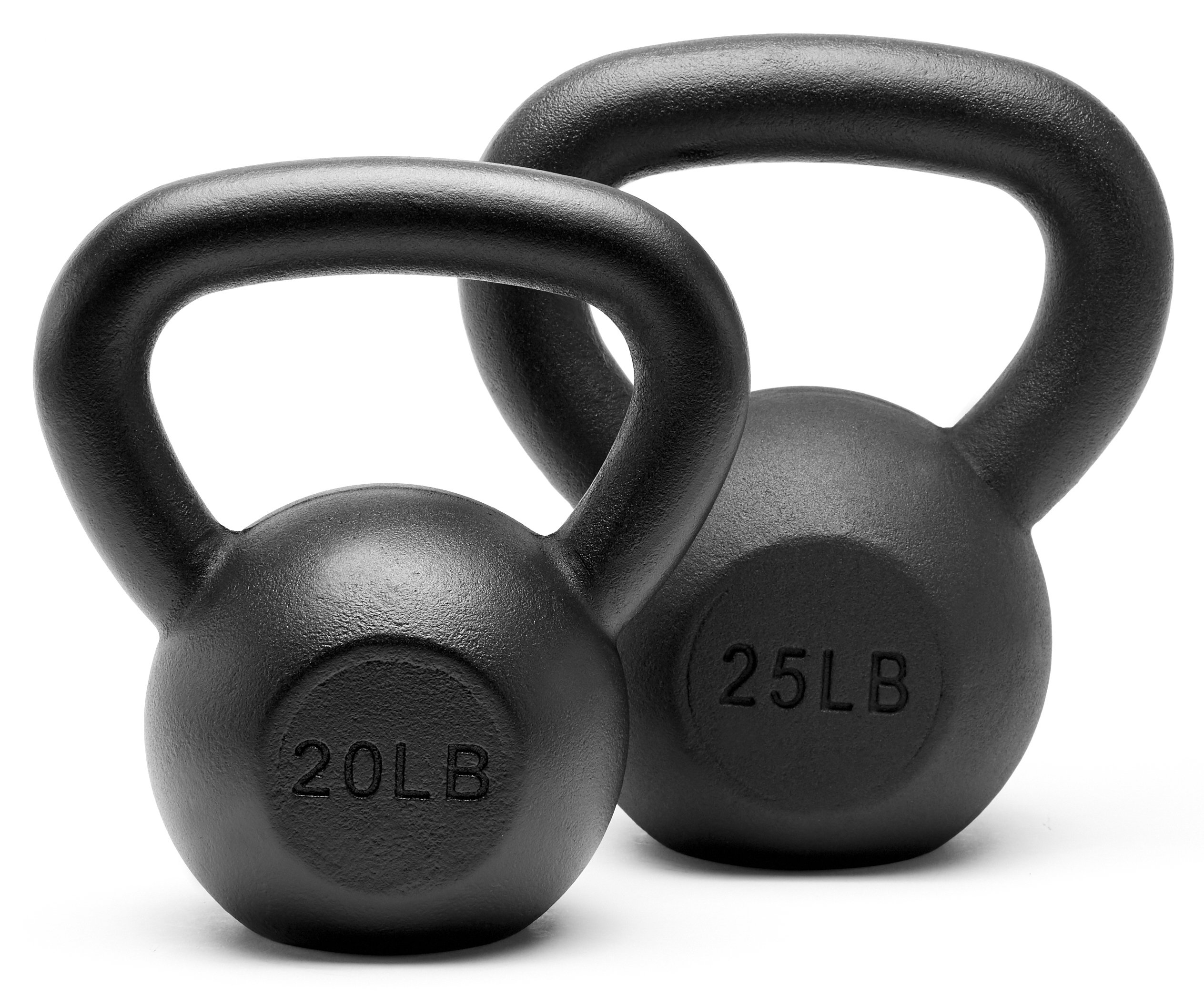 Unipack Powder Coated Solid Cast Iron Kettlebell Weights Set- (20+25 lbs)