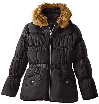Amazon.com: Rothschild Girls' Puffer Coat With Belt: Clothing