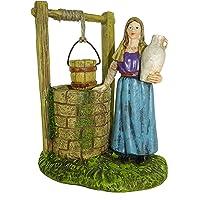 Figuras Belén: mujer cogiendo agua del pozo