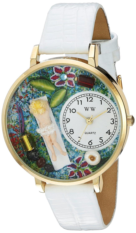 Whimsical Watches WHIMS-G0630012 - Reloj analógico de Cuarzo Unisex con Correa de Piel, Color Morado