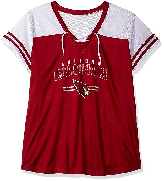 b80eec91 NFL Womens Cardinals S/S Mesh V Neck