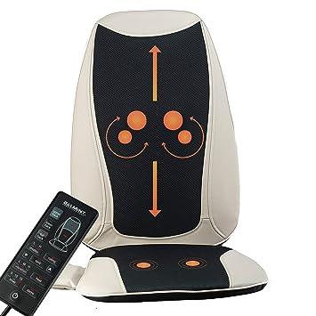 Amazon.com: Cojín de asiento con masaje Shiatsu para espalda ...