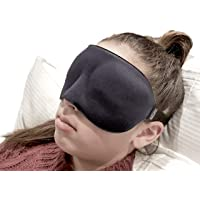 ❤️ HugSnug ❤️ - Sleep Mask 3D Eye Mask Memory Foam with Large Eye Cavity Deep Orbital Design for Sleeping in Total Comfort Ideal for REM Sleepers Men Woman and Kids Blocks Light
