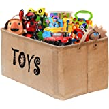 "Gimars XXL 22"" Well Holding Shape Jute Toy Chest Baskets Storage Bins Organizer - Perfect for Organizing Toy Storage, Baby Toys, Kids Toys, Dog Toys, Baby Clothing, Children Books, Gift Baskets-TOYS"