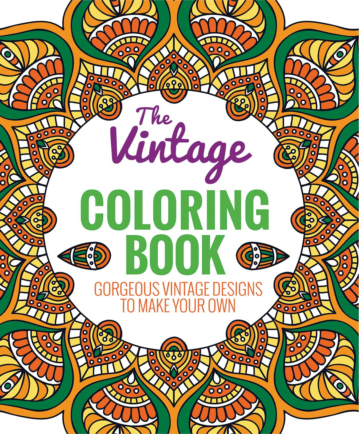 Amazon.com: The Vintage Coloring Book: Gorgeous Vintage Designs to ...