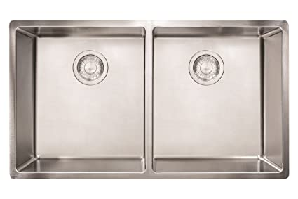 Franke CUX120 Cube 18G Stainless Steel Double Bowl Kitchen Sink ...