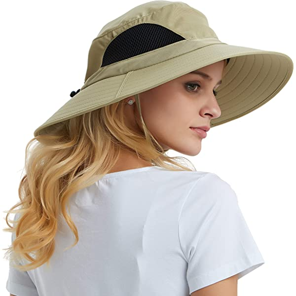 Camping Summer Hat with Detachable Face Cover /& Neck Flap for Dust Bucket Hat for Fishing Hiking Sunburn /& UV Protection Lightweight Boonie Cap Beach /& Safari Outdoor Sun Hat for Men /& Women