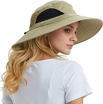 EINSKEY Sun Hat for Men/Women, Summer Outdoor Sun Protection Wide Brim Bucket Hat Waterproof Breathable Packable Boonie Hat for Safari Fishing Hiking Beach Golf