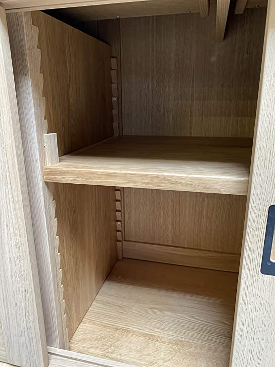 Chalet aparador cómoda Enfilade roble macizo 3 puertas correderas 2 cajones l1 m84: Amazon.es: Hogar