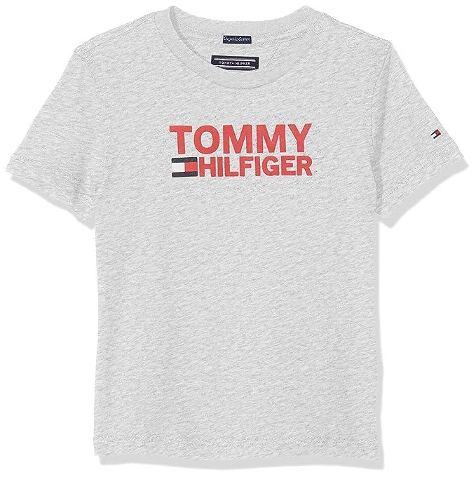 Tommy Hilfiger Essential Graphic Knit Dress S//S Vestido para Ni/ñas